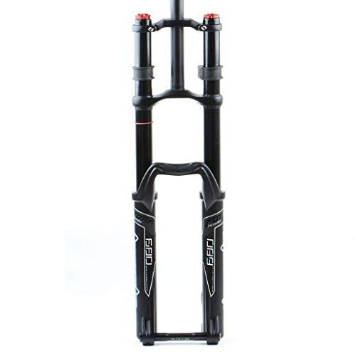 TYXTYX Horquilla de suspensión para Bicicleta de Playa/Nieve 27.5'29er MTB Air Horquillas Delanteras Aleación de magnesio para Llantas de 3.0' Doble Hombro - Negro