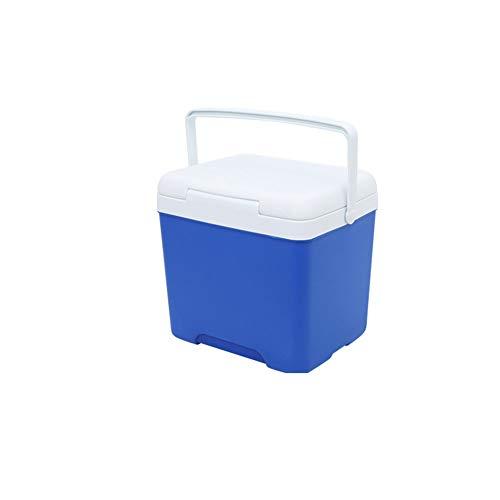 LCM Blanca Pequeña Nevera Portátil Azul, con Empuñadura-Elevador Bolso Fresco Plástico Sin Electricidad Nevera Portátil De...