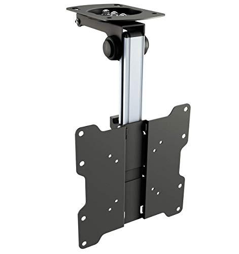 RICOO Fernseher TV Decken-Halterung Schwenkbar Klappbar (D0122) Universal Dachschräge Fernsehhalterung für 13-33 Zoll (bis 20-Kg, Max-VESA 200x200) LCD OLED Curved Flach Bildschirm