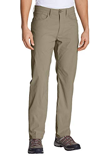 Eddie Bauer Horizon Guide Five-Pocket-Hose-Straight Fit Pantalón, Verde, W35/L32 para Hombre