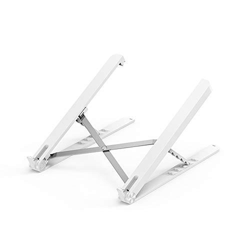 Verdelife Laptop-Halterung, Aluminiumlegierung, faltbar, tragbarer Laptop-Ständer, Tisch-Höhenverstellung, Heizkörper (weiß)
