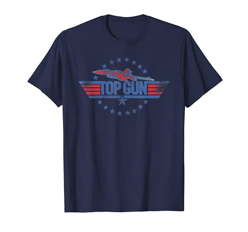 Blue Top Gun Logo T-shirt for Adults, other colors available, S to 3XL