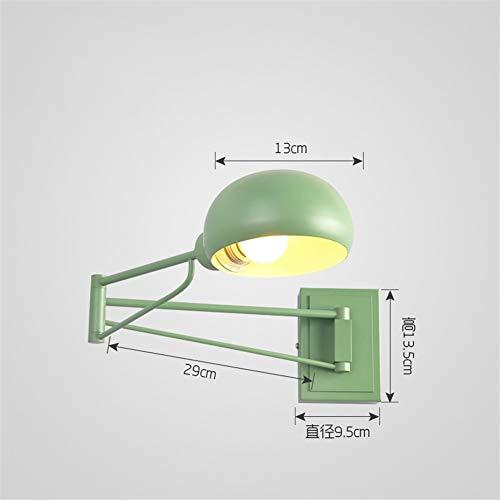 Modern, metaal, creatief slaapkamer-nachtlampje aan de muur, Scalable long arm, werken lezen en schrijven, wandlamp
