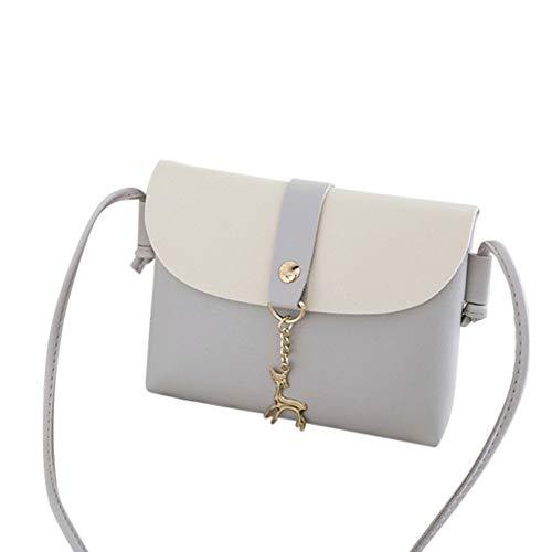Queenback dames Lady schouder schoudertas smartphone geld pakket tas modieus portemonnee, grijs (grijs) - 1nm3xg8tf2ky1wz7D04