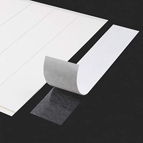 Bastel-Klebestreifen | Beidseitig stark klebend | Aus Klebeshop24 HyperTape | Für Papier, Pappe und andere Bastelmaterialien | 20 x 100 mm / 20 Stück