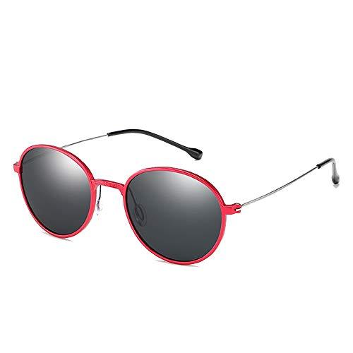 Sebasty Gafas De Sol Redondas UV400 Retro Gafas De Sol De Aluminio con Magnesio Y Marco Fino Gafas De Sol De Metal