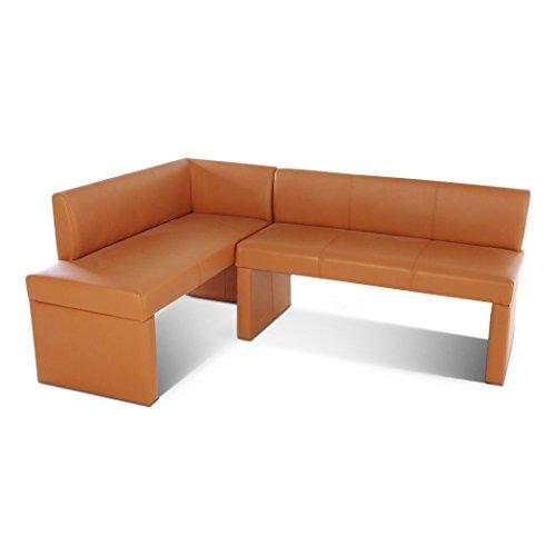 SAM Eckbank Metz I, Cappuccino, 180x130 cm, Sitzbank mit Rückenlehne