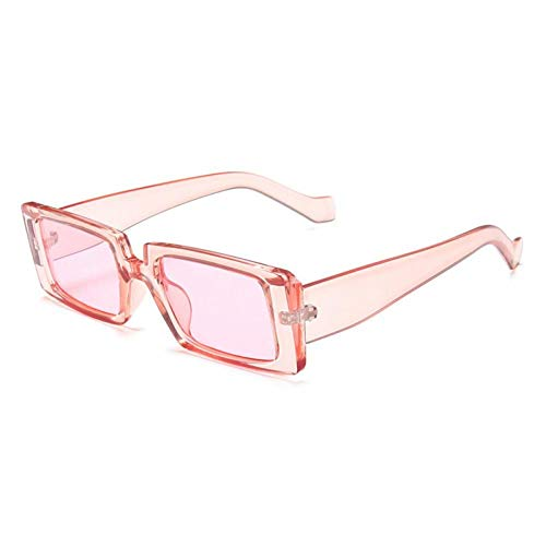 ZZOW Gafas De Sol Rectangulares De Moda para Mujer, Gafas Verdes Fluorescentes, Lentes Transparentes para El Océano, Gafas De Sol De Tendencia para Mujer, Sombras Uv400 para Hombres