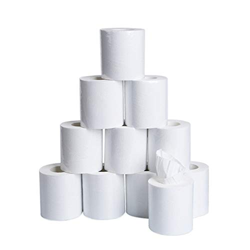 Fantastic Deal! HIRIRI 10PCS Household Hollow Replacement Roll Paper Toilet Paper Natural White Tabl...