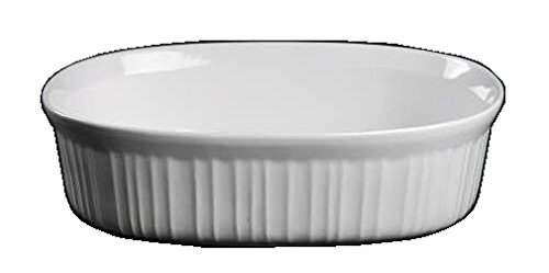 Corning Ware French White Oval Casserole / No Lid ( 2 1/2 Quart ) ( F-2-B )