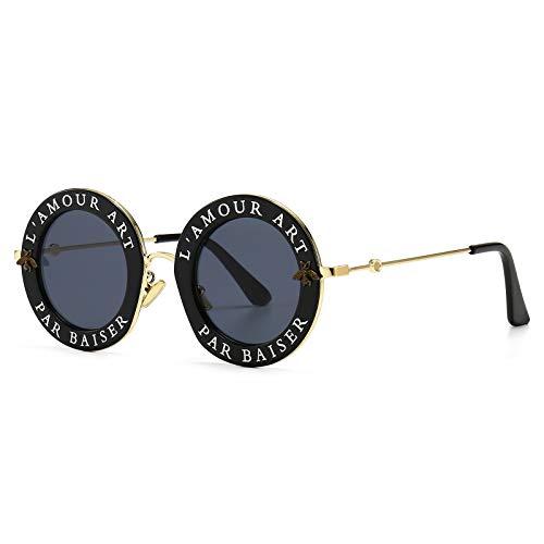 Runde Sonnenbrille für Frauen Männer Bee Sonnenbrille Unisex Chic Style Brille