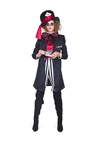 Karnival 81193 zwart Hatter Girl kostuum, vrouwen, multi, groot