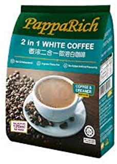 10 Pack PappaRich Instant White Coffee Premium 2 in 1 No Added Sugar Imported from Malaysia (10 x 12 Sachets) Free Express Delivery