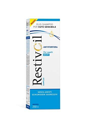RestivOil Complex Shampoo Antiforfora per Capelli Secchi, Olio Fisiologico con Azione Antiseborroica e Anti Prurito, 250 ml