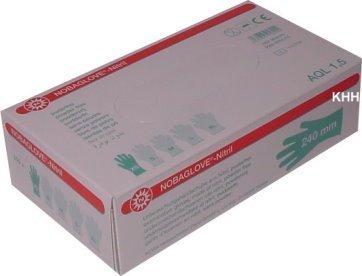 100pieza guantes desechables nitrilo Noba hipoalergénico, color blanco