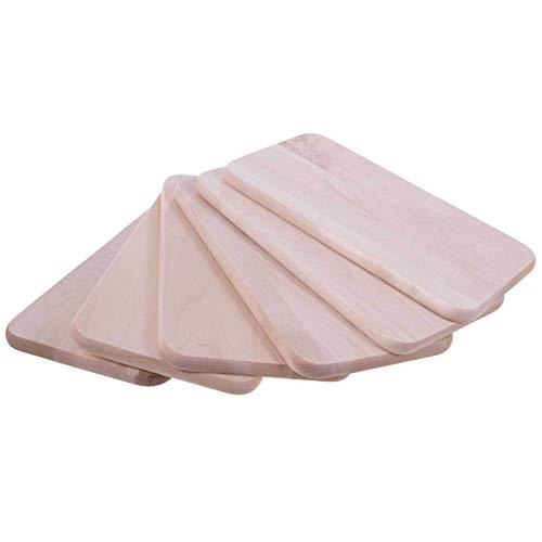 SIDCO Juego de 6 tablas de cortar (madera)