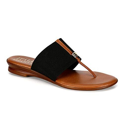 Italian Shoemakers Women's Afia Sandal (7, Black)
