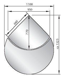 Glazen vloerplaat, seizoensplaat, 2-delig, ESG-glas, 6 mm, model 3, vonkenbescherming, open haard kachel