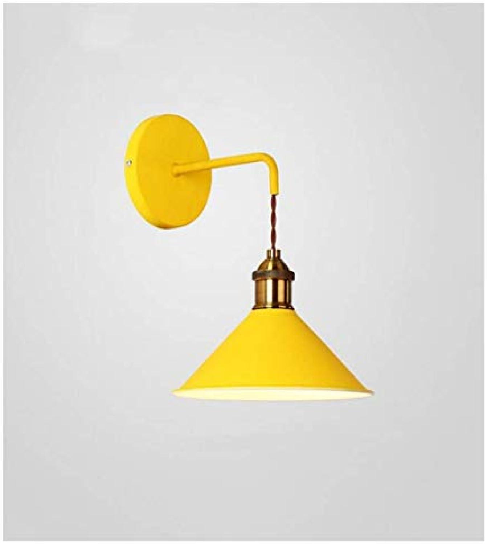 HBLJ Nachttischlampe Wandbeleuchtung Wandleuchten Restaurant Cafe Bar Theke Wandleuchte (Farbe  Gelb)