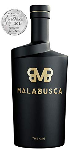 Malabusca Gin 70 cl - La Ginebra Premium Medalla de Plata en el Concurso Mundial San Francisco World Spirits 2018 (EEUU)- Botella Ginebra Española 0,7 l en Caja Regalo Transporte