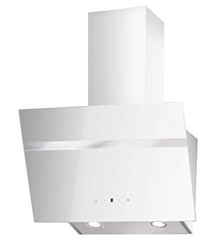 PKM Dunstabzugshaube S20-60AWTY Kopffreihaube Randabsaugung Kopfrei Wand Haube 60cm LED weiß