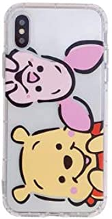 Ultra Slim Soft TPU Transparent Winnie The Pooh Case for Apple iPhone XR 6.1 Clear Bear Piglet Pink Piggy Pig Walt Disney Cartoon Disneyland Cute Lovely Protective Kawaii Kids Teens Girls Daughter