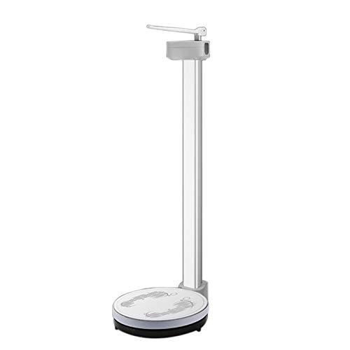 GMF Escala De Altura Y Peso, Adecuada para La Familia/Hospital/Fitness, con Varilla De Altura Ajustable, Bascula Medica con Tallimetro, Pantalla LCD