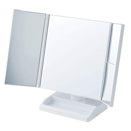 アイメディア『テーブルで使う拡大鏡付三面ミラー』