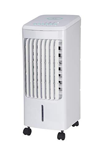 JATA JVAC2001 Condensador evaporativo 3 en 1. Climatiza, purifica y humidifica. Con mando a distancia. 3 velocidades. 3 modos: normal / natural / noche. 2 recipientes para el hielo.
