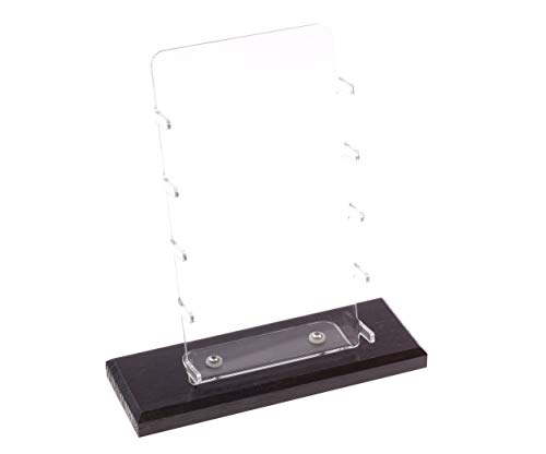 Messerständer Eiche dunkel für 5 Messer I Display Acryl/Eiche Massivholz I