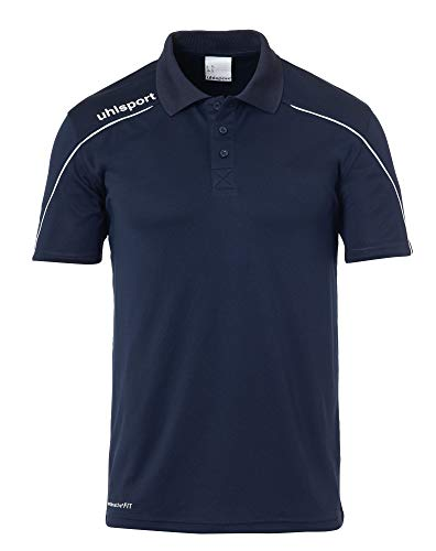 uhlsport Herren Stream 22 Polo Shirt T, Marine/Weiß, 4XL