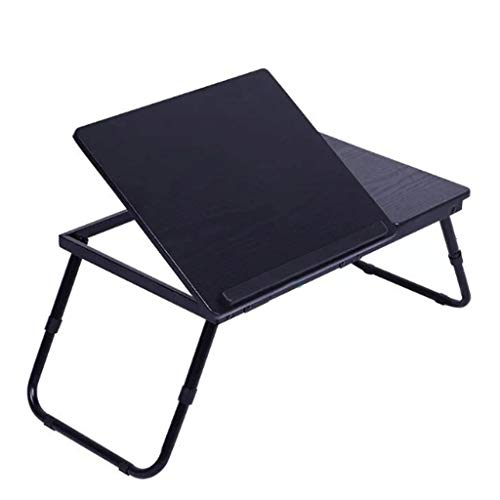 1Pc Verstelbare Folding Computer Desk Rack Bed Lap Bureau Draagbare multifunctionele Book Reading Tray Stand (Color : Black)