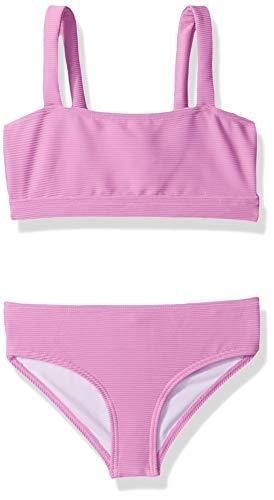 Billabong Girls' Girls' Line Up Square Neck Swim Set Purple 10