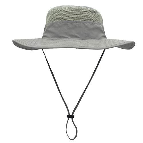 QingFang Wide Brim Sun Hat Mesh Bucket Hat Lightweight Bonnie Hat Perfect for Outdoor Activities