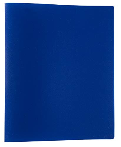 Idena 10430 - Ringbuch im Format DIN A4, mit 2-Ring-Mechanik, 20 mm Rückenbreite, blau, 1 Stück