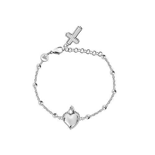 Morellato Bracciale da donna, Collezione Devotion, in acciaio, cristalli - SARJ12