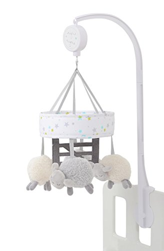 Móvil para cuna con diseño de ovejas Plata CS