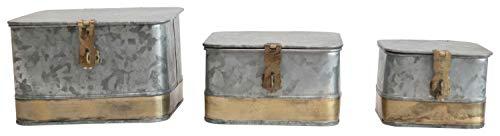 caja almacenamiento galvanizado fabricante Creative Co-op