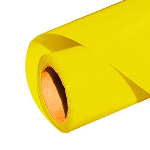 Heat Transfer Vinyl HTV for T-Shirts 12 Inches by 8 Feet (Yellow)