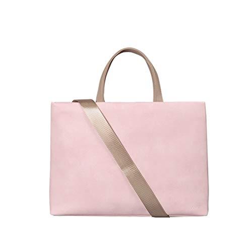Bolso portátil para Las Mujeres Bolsa de Asas de Cuero Ligero Bolso Bolso de Hombro maletín Bolsas de Trabajo Bolsas Bolsas de Hombro (Color : Pink, Size : 13.3 Inches)