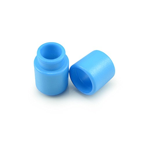 Ganzoo 10er Set Verbinder/Kordelverbinder,rund, zum verknüpfen von Paracord 550, aus Kunststoff für Paracord Armbänder, Kordeln etc, 2-teilig, Farbe: hell blau - Marke