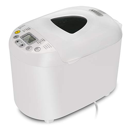 Lowest Price! ZENSTYLE 2 Pound Capacity Programmable Automatic Bread Maker Beginner Friendly Electric 550W Bread Machine with Gluten Free Setting, White