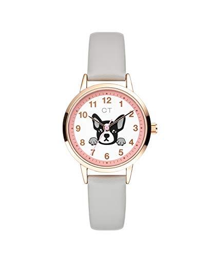 Cool Time Mädchen Kinder Armbanduhr (grau)