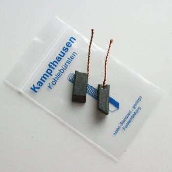 Satz Kohlebürsten (Bronzekohle) 8 x 10 x 17/20/21,5 mm