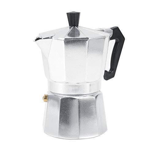 Bewinner 3/6/9/12 Tazas Moka Pot Aluminio Tipo Italiano Moka Pot Café Expreso Estufa de Cafetera para la Oficina en Casa Restaurante, Café Uso Caliente(300ML 6cups)