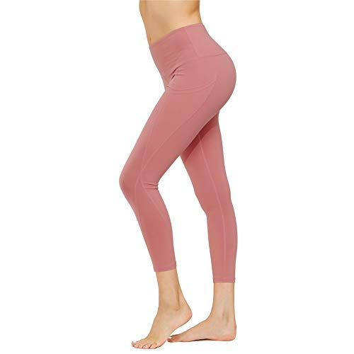 IceUnicorn Pantalones de yoga para mujer, pantalones cortos de cintura alta, para correr, control de barriga, leggings suaves con bolsillo lateral