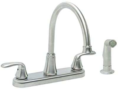 Premier Faucet 126967 Waterfront Lead Free Two-Handle Kitchen Faucet with Spray, Chrome