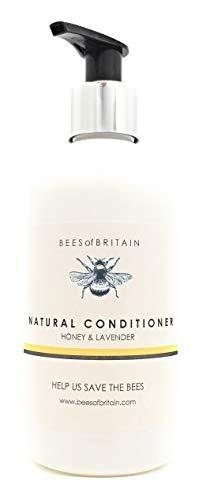 100% NATURAL - ACONDICIONADOR DE CABELLO - Con MIEL & LAVANDA - 250 ml - por BEES of BRITAIN - SIN SULFATOS, SIN PARABENOS, SIN SILICONA. Donamos 5% de nuestras ganancias para ayudar a salvar abejas.