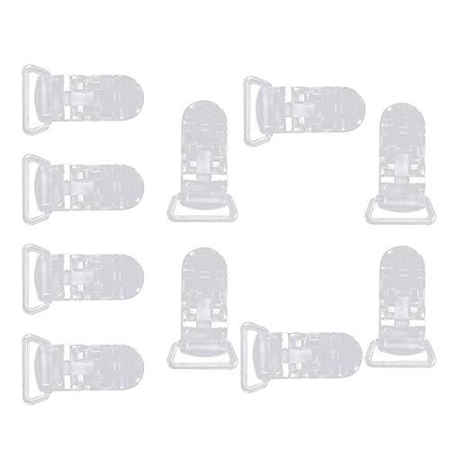 urlife ワンタッチクリップ クリップ クリップ 手芸 名札クリップ 帽子用クリップ 汎用クリップ フィッシュクリップ 幅広い使用範囲 固定用 落下防止 クリア 10個セット
