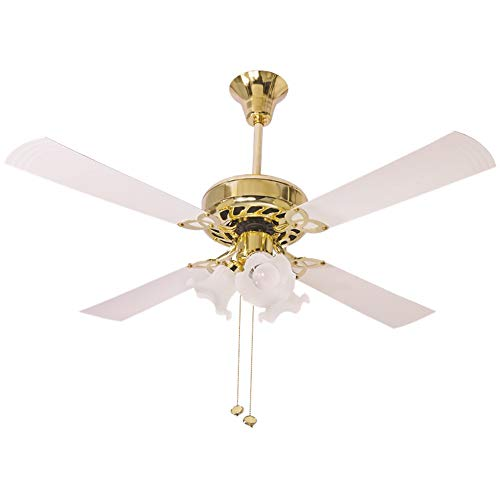 Crompton Uranus 48-inch Ceiling Fan With Decorative Lights (Ivory)